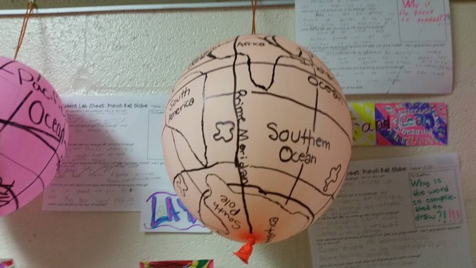 Growing a stem classroom balloon globe stem challenge deal on them at amazon and black sharpie markers we started by marking the equator and prime meridian then i pretty much let the kids go to work gumiabroncs Choice Image