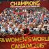 Seleção Feminina dos Estados Unidos vence o Japão e conquista o Tricampeonato Mundial