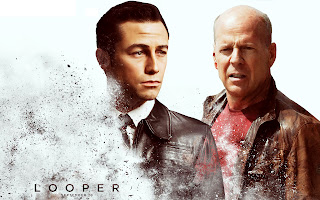 Looper Movie Joseph Gordon Levitt and Bruce Willis HD Wallpaper