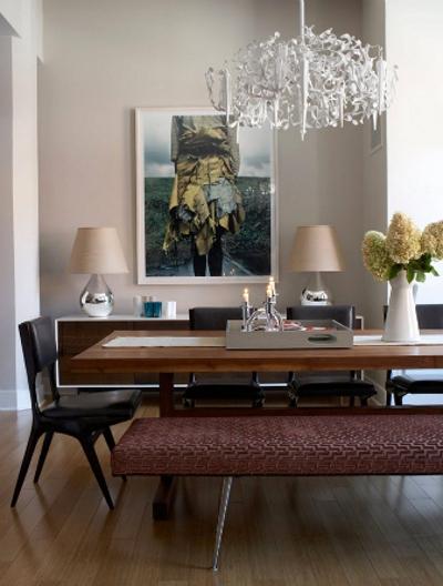 Banco Para Mesa De Sala De Jantar ~  para a circulação Se a mesa não for encostada na parede o banco