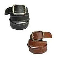 SkyWays Suave Casual Black & Brown Belt Combo Rs.11 Via Shopclues