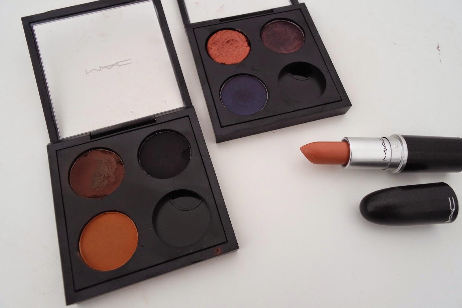 mac quad palette eyeshadow lipstick