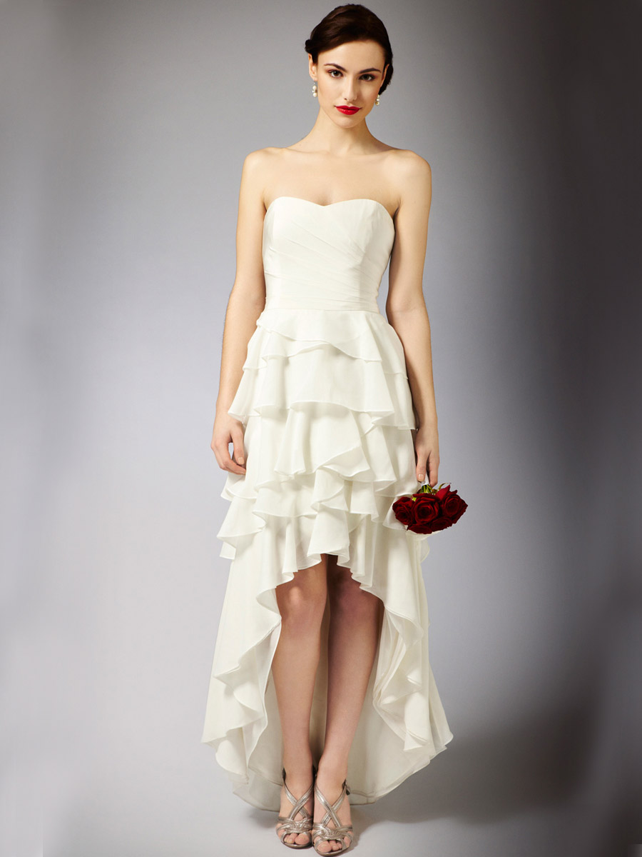 Whiteazalea high low dresses may 2012 for Wedding dress high low