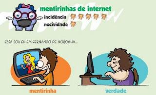 mentiras da internet, quadrinhos