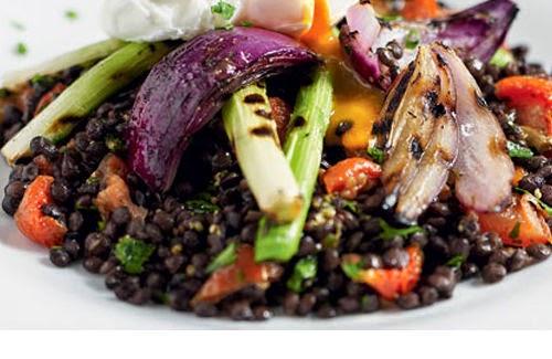 Healthy Puy Lentil and Sausage Salad