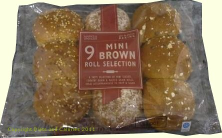 Diets and Calories: Mini Brown Roll Selection – Marks ...
