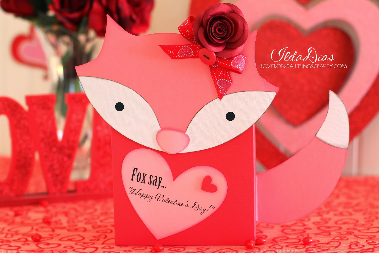 I Love Doing All Things Crafty Foxy Valentines Day Mailbox – Create Your Own Valentines Card