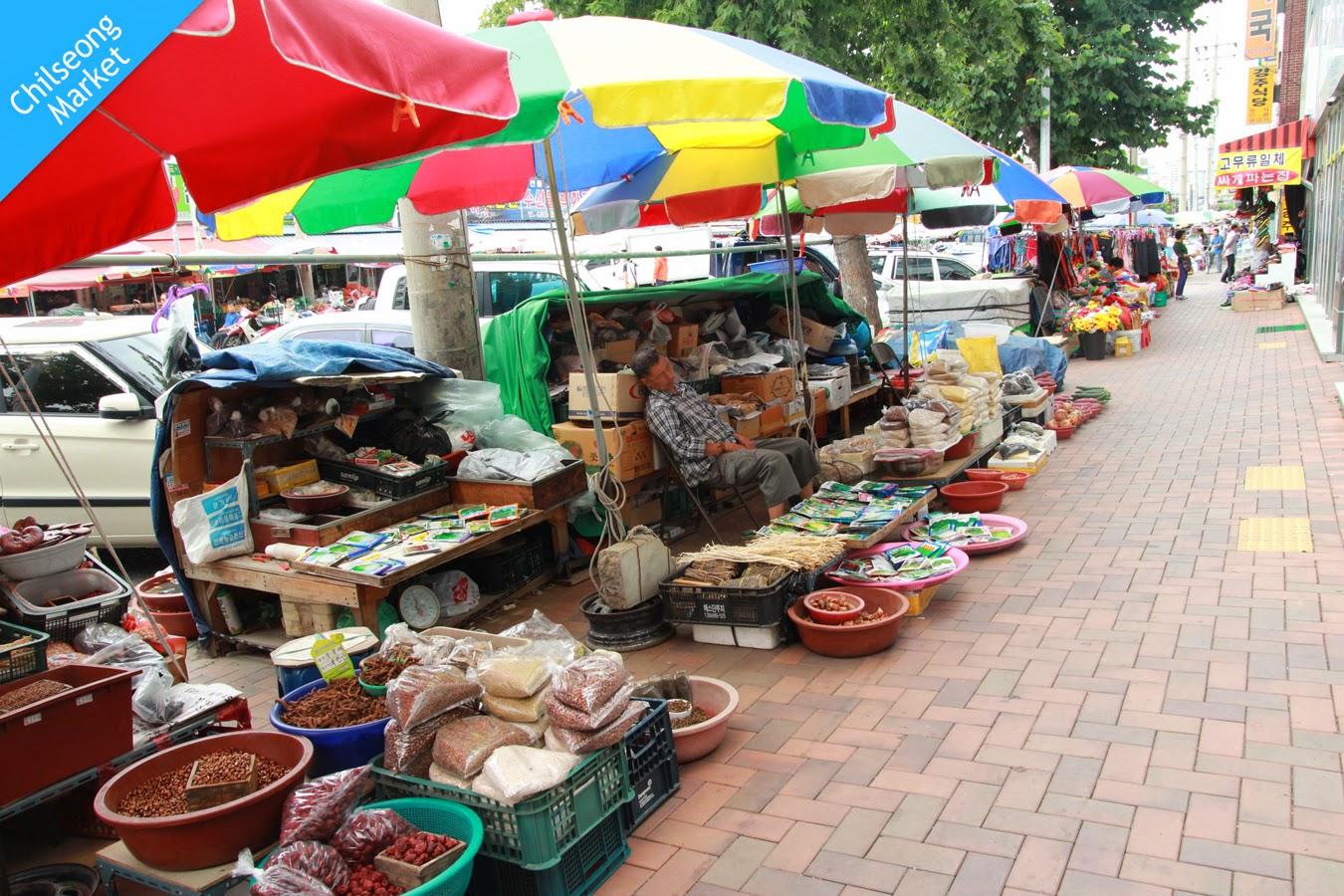 Shopping Areas in Daegu-Chilseong Market, Buk-gu