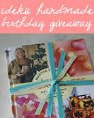 idekuhandmade birthday giveaway