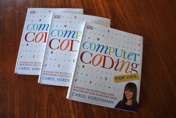 a stack of Computer Coding for Kids books