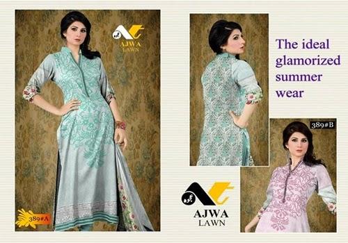 Ajwa Designer Lawn 2014