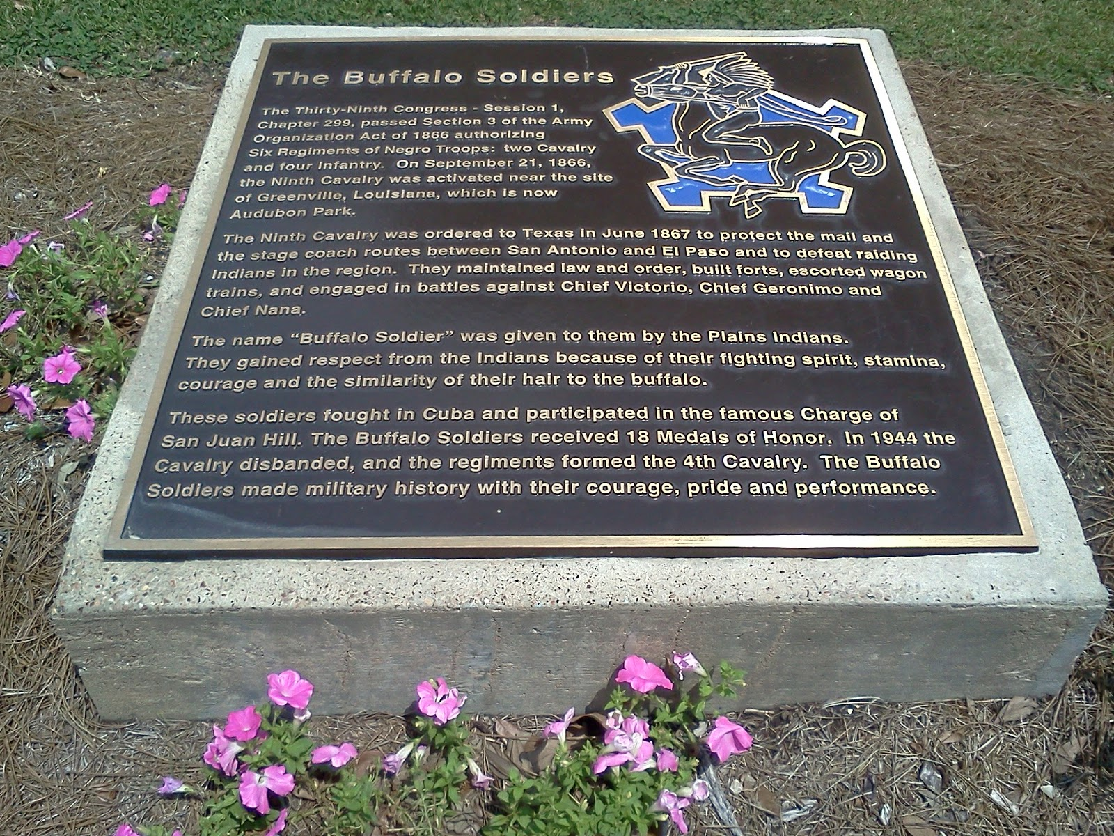 Buffalo Soldiers Plaque