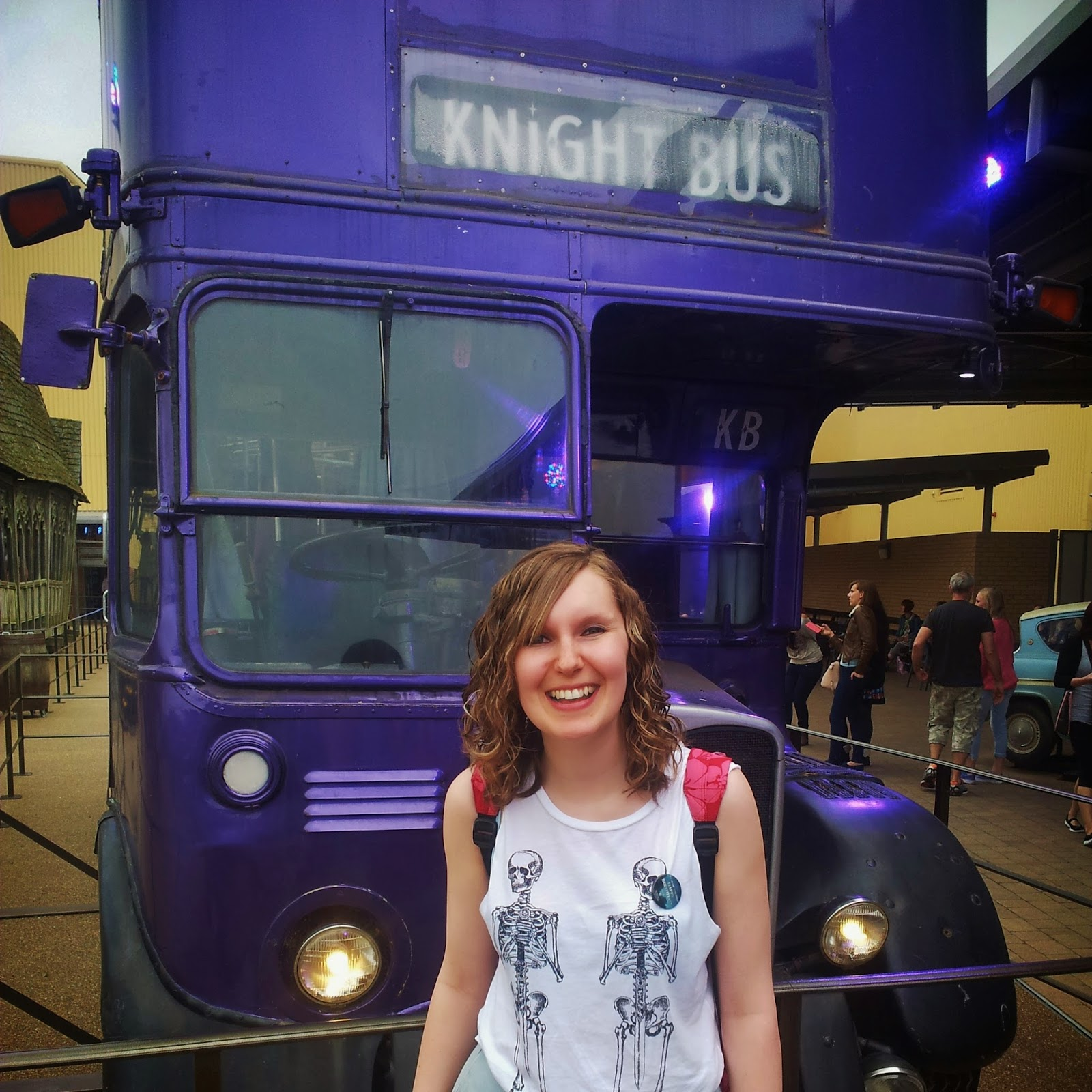Stood in front of the Knight Bus