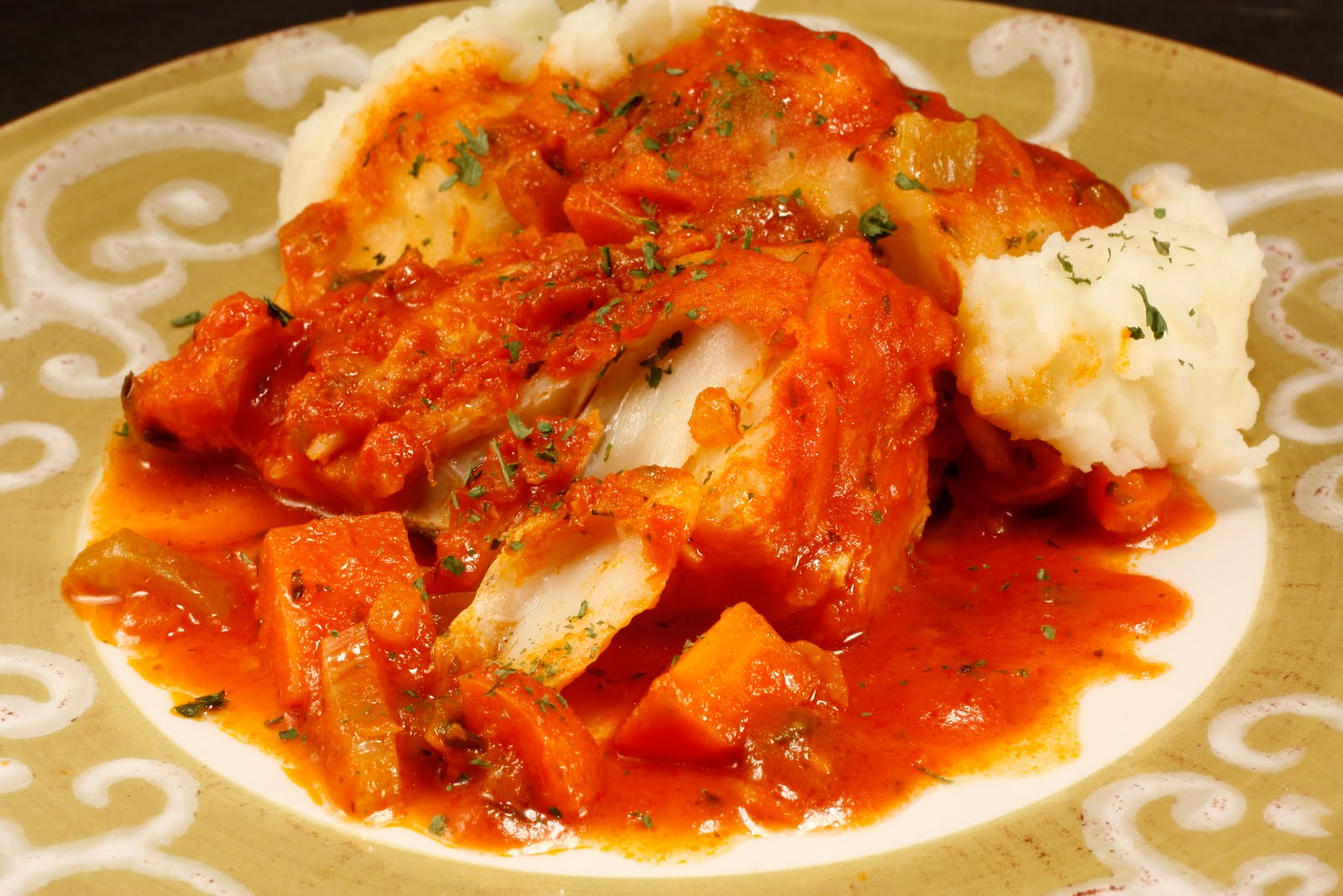 Chef Chuck's Cucina: Chef Chuck's Salted Cod with Tomatoes