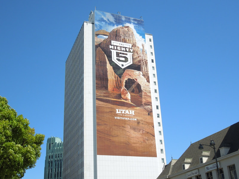 Giant Utah Mighty 5 tourism billboard