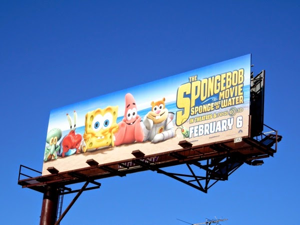 SpongeBob Movie Sponge out of water billboard
