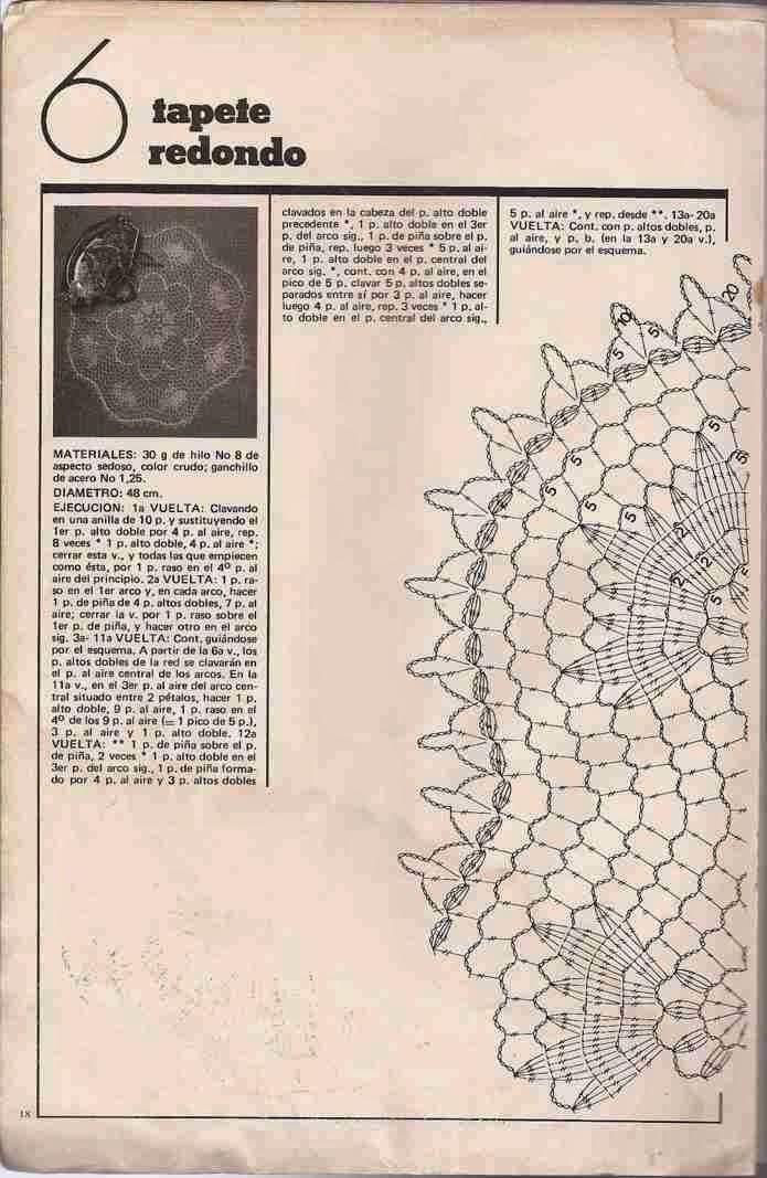 #17 Tapete Redondo a Crochet