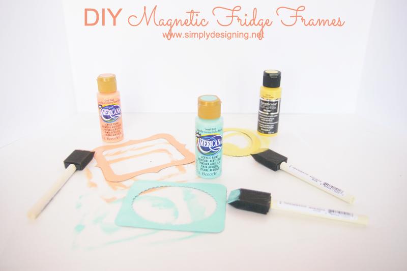 DIY Magnetic Fridge Frames