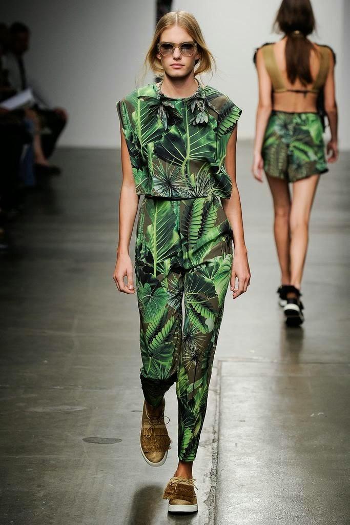 Tendências moda primavera-verão 2015 padrão natureza