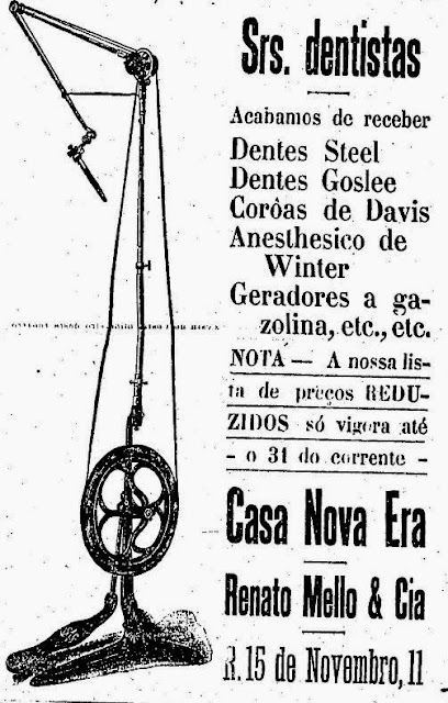 Casa Nova Era - equipamentos para dentistas em 1919