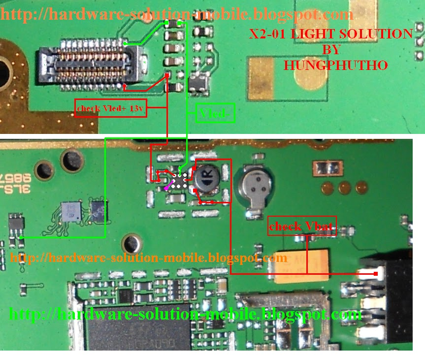 Nokia X2 01 Lcd And Keypad Light Solution