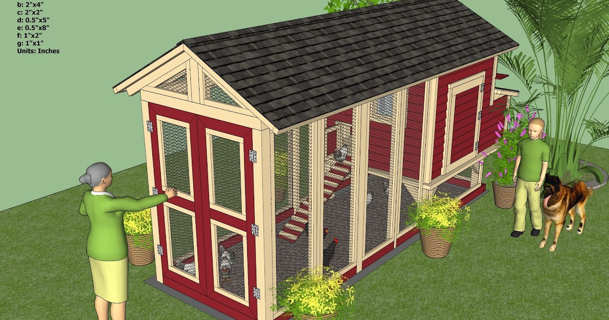 Home garden plans m102 chicken coop plans construction for Garden design new build house
