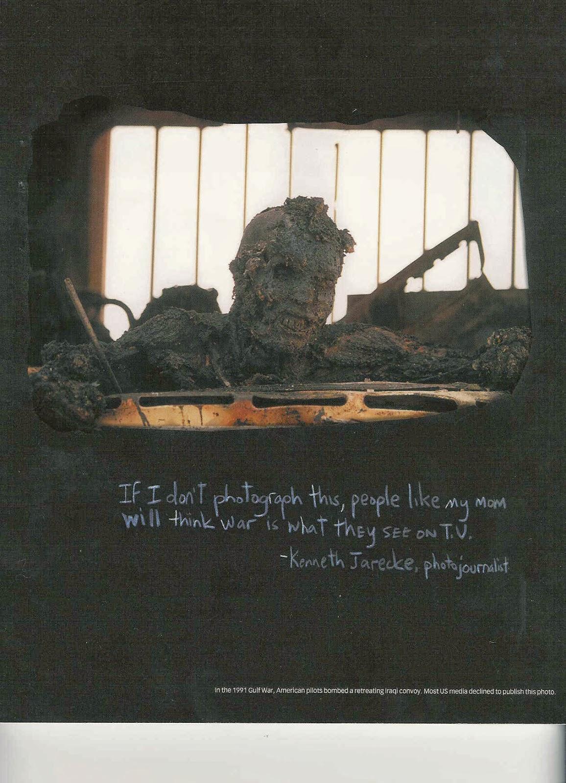 The Death of an Iraqi soldier, Highway of Death, 1991