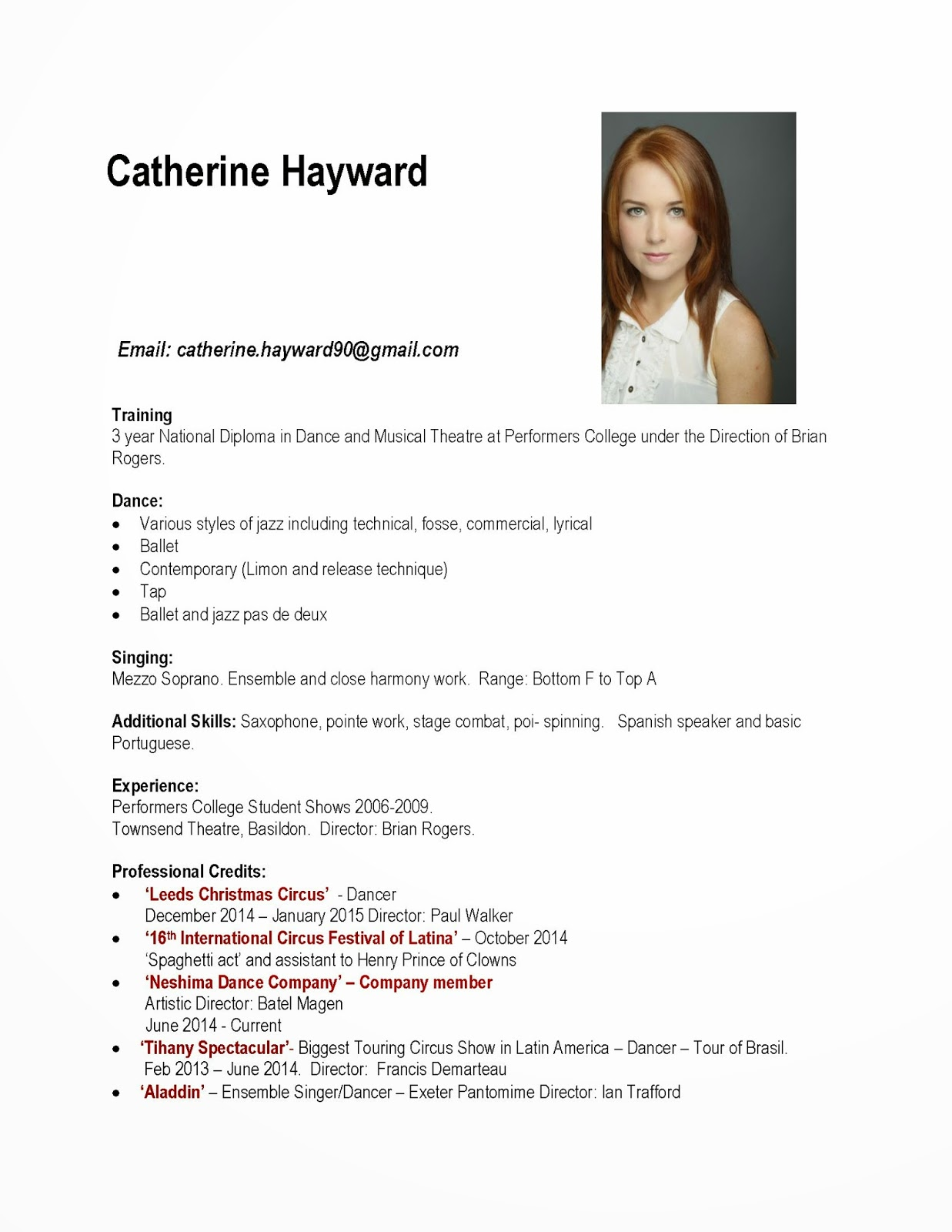 Catherine Hayward Professional Practice Arts Task 1A