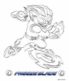 Skylanders Swap Force Freeze Blade Coloring Pages