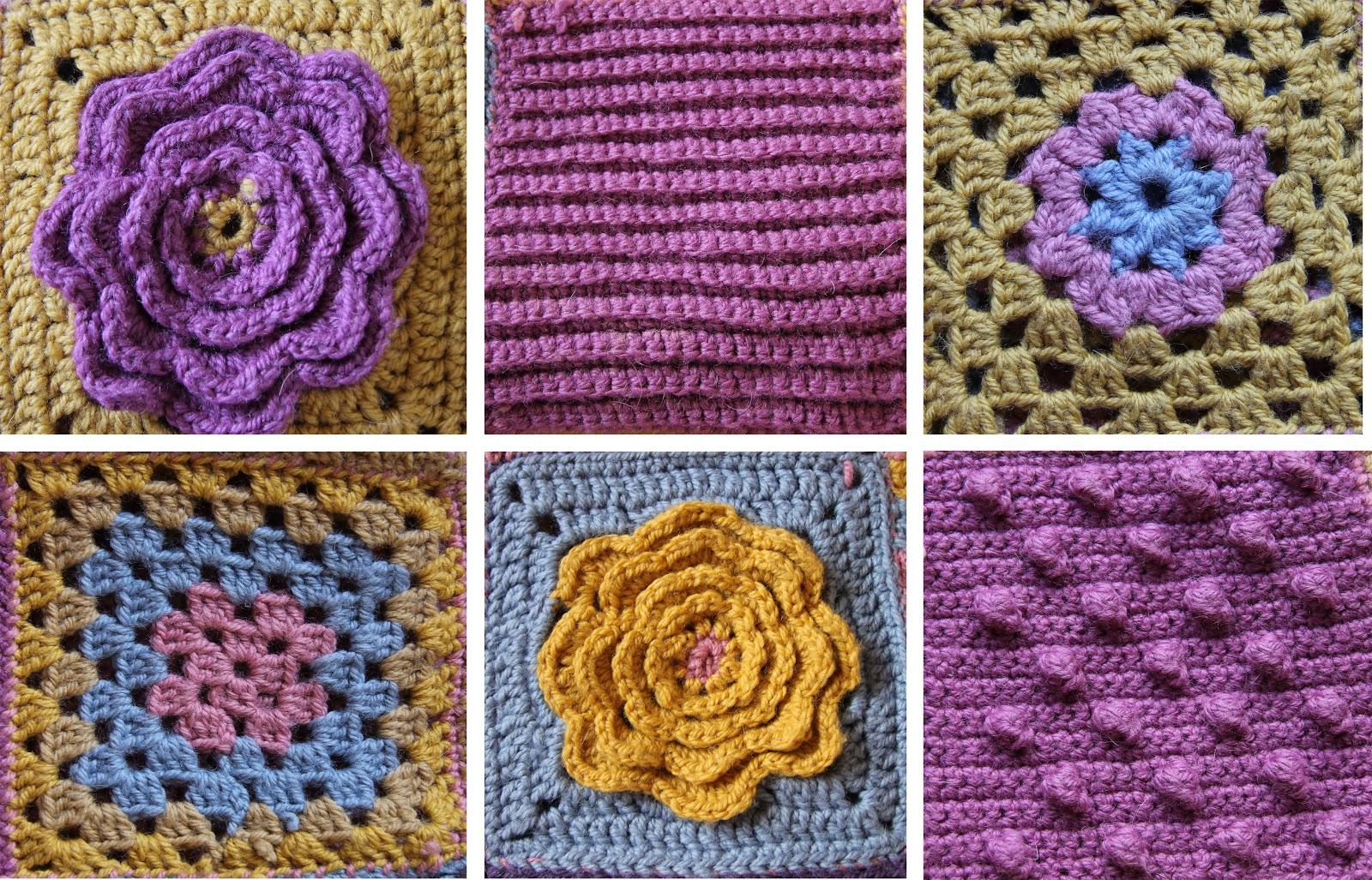 Susimiu manta crochet popurri de muestras - Mantas lana ganchillo ...