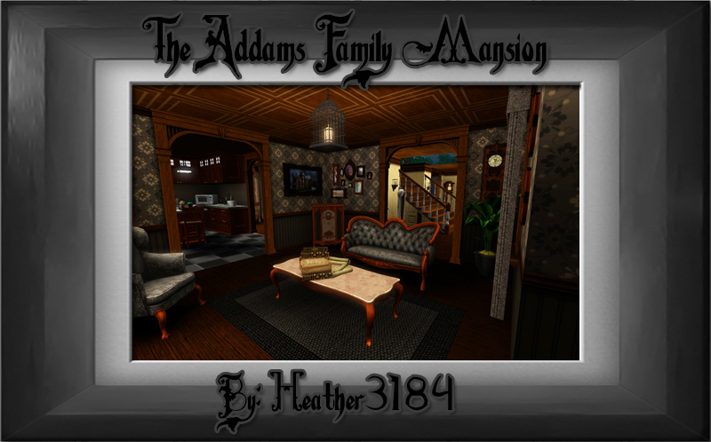 Harleyquinn 39 s nuthouse the addams family mansion for The addams family living room