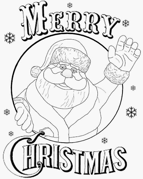 Merry Christmas Card Coloring Pages Printable