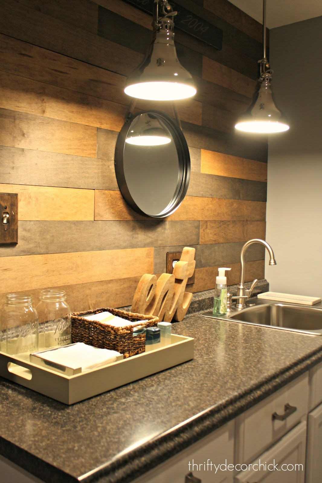 My new favorite wood planked wall from thrifty decor chick