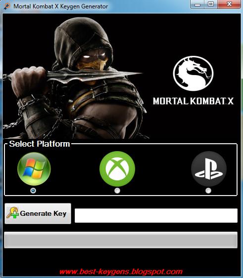 license key of the product mortal kombat x pc