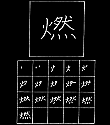 kanji membakar