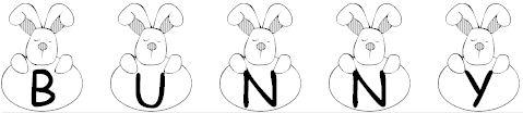 101! Bunny Hug font fuente para pascua