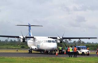 Bandara Blimbingsari Banyuwangi dibuka lagi sejak sabtu 18 Juli 2015.