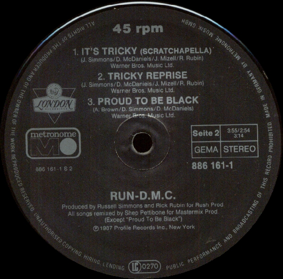 Run DMC Its Tricky Proud To Be Black