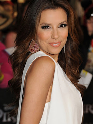 Eva Longoria Dangling Gemstone Earrings
