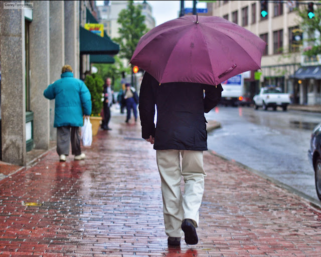 Congress Street Umbrella 2. Portland, Maine. June 2012. by Corey Templeton.