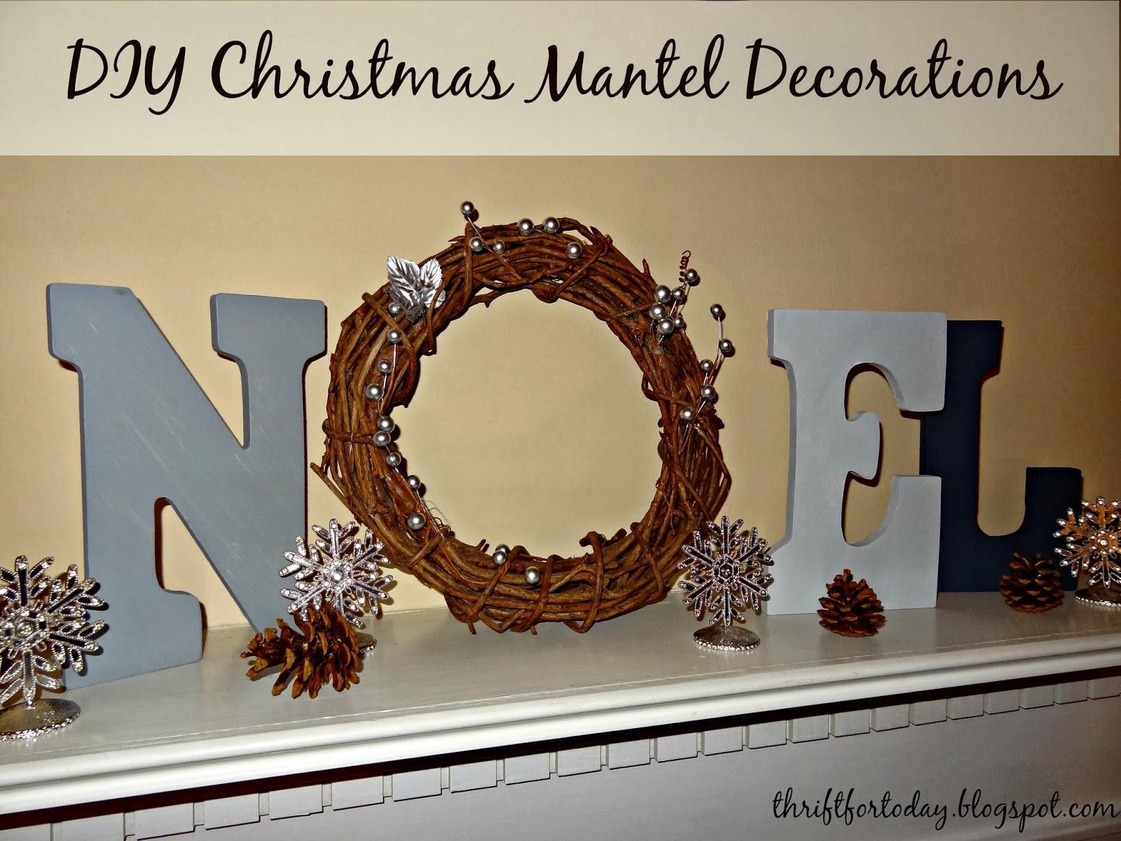 #654125 Thrift For Today: DIY Christmas Mantel Decor: Noel Sign 5509 decorations de noel shabby 1600x1200 px @ aertt.com