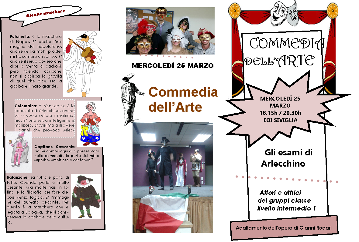 INFO COMMEDIA DELL'ARTE