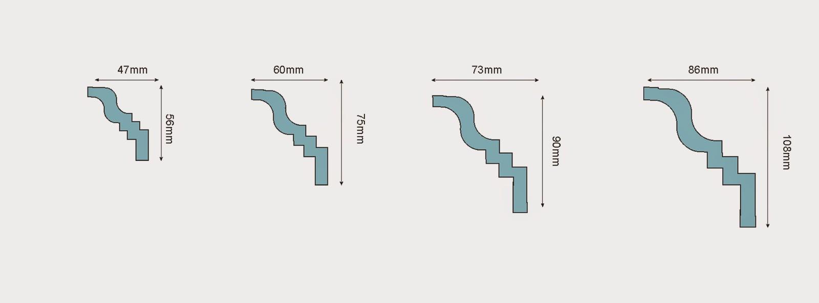 cornisa. dimensiuni profile decorative din polistiren, elementr decorative tavan