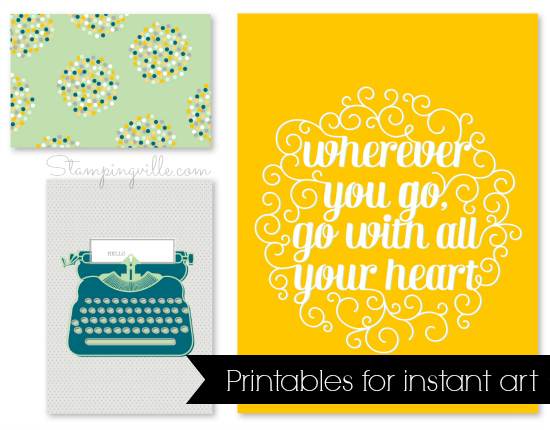Fun printable artwork - download, print, frame, and hang!