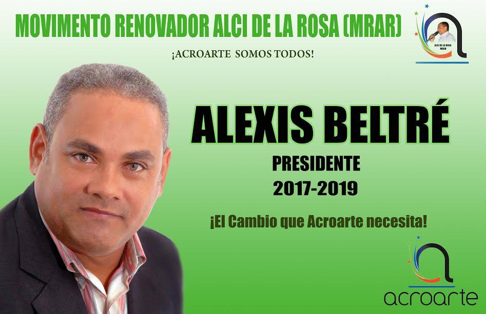 Periodista Alexis Beltré a la presidencia de Acroarte.