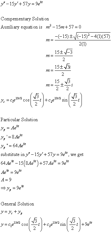 Differential Equations Solved Examples Solve The Following