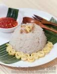 Resep Cara Membuat Nasi Uduk sederhana tapi lengkap dan komplit yang di bungkus daun pisang
