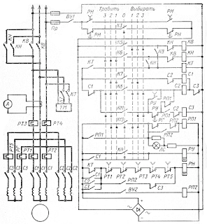 Контроллерная схема электропривода переменного тока якорно-швартовного устройства