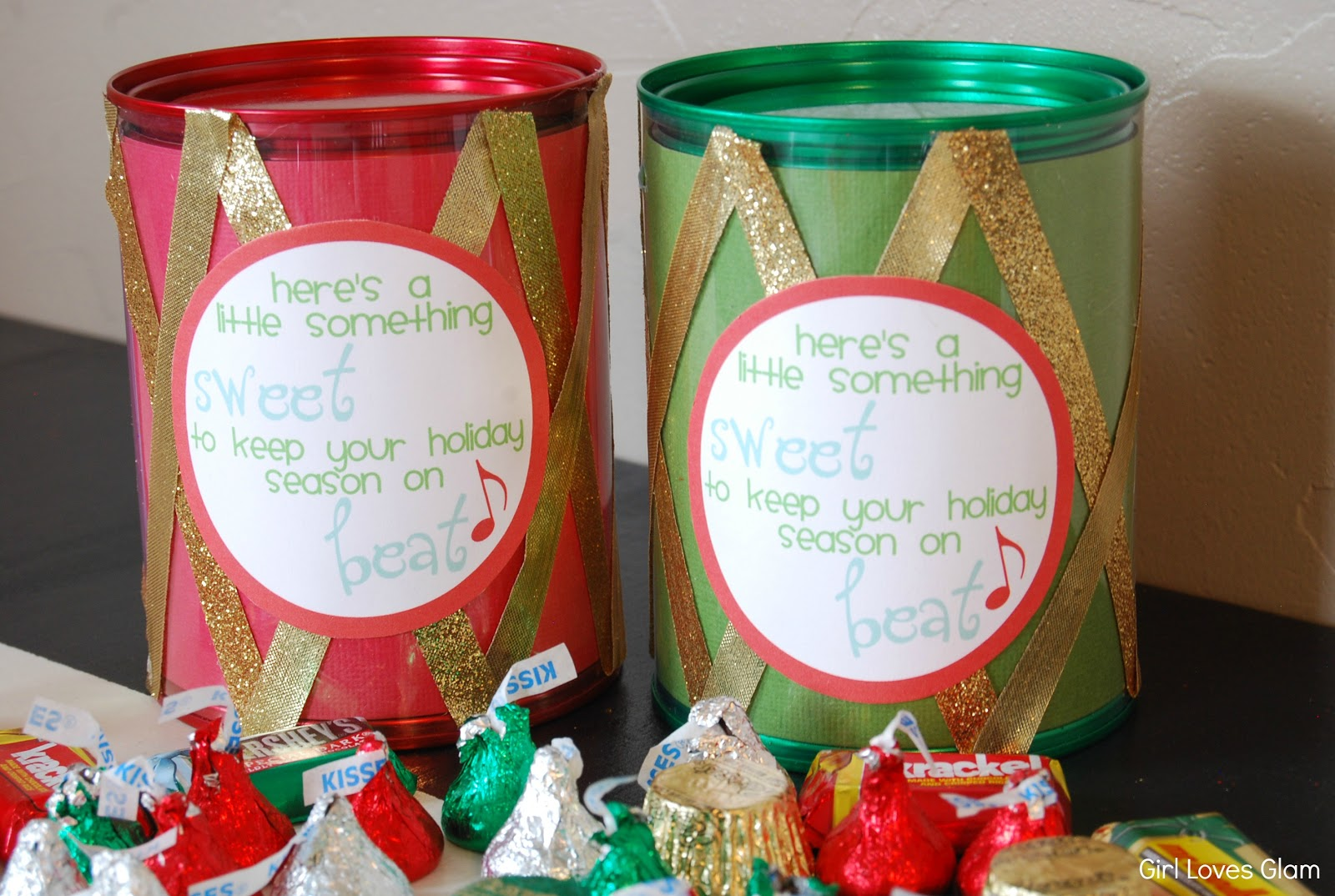 christmas candy drum neighbor gift free printable