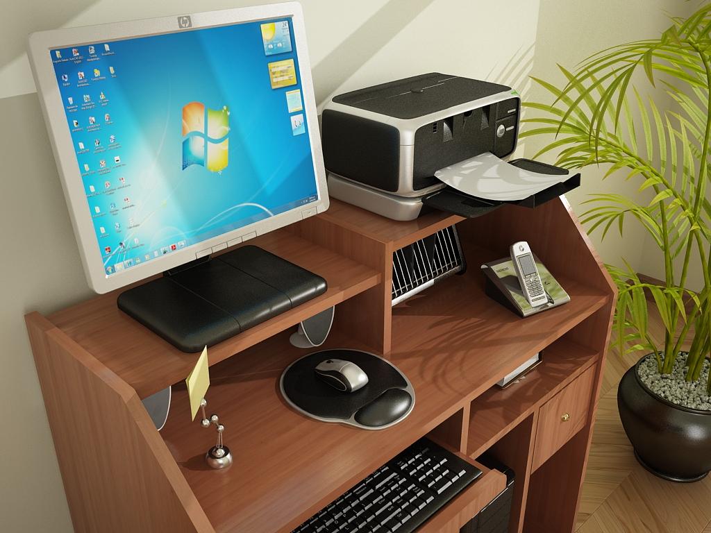 Af arquitectura y mobiliario mueble para pc for Muebles para computador